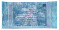 Hand Towel featuring the digital art Spiritual Art  Devine Order by Sherri Of Palm Springs