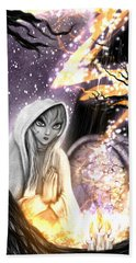 Spiritual Ghost Fantasy Art Hand Towel