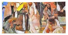 Bath Towel featuring the painting Spiritual Makeover by Wayne Pascall