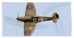 Spitfire Mk 1 R6596 Qj-s Bath Towel