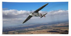 Bath Towel featuring the photograph Spitfire Tr 9 On A Roll by Gary Eason