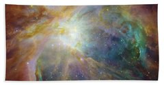 Spitzer And Hubble Create Colorful Masterpiece Bath Towel