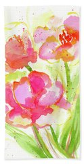 Splash Of Pinks  Hand Towel