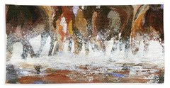 Hand Towel featuring the painting Splashing Around by Jamie Frier
