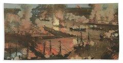 Splendid Naval Triumph Of The Mississippi Bath Towel