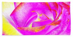 Hand Towel featuring the mixed media Splendid Rose Abstract by Will Borden