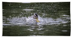 Bath Towel featuring the photograph Splish Splash by Ray Congrove