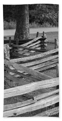 Split Rail Fence Bath Towel by Eric Liller