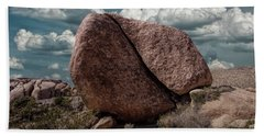 Bath Towel featuring the photograph Split Rock In Joshua Tree National Park by Randall Nyhof