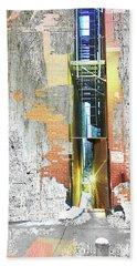 Bath Towel featuring the mixed media Split by Tony Rubino