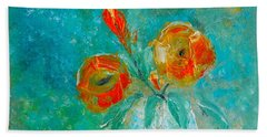 Palette Knife Floral Bath Towel by Lisa Kaiser