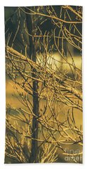 Spooky Country House Obscured By Vegetation  Hand Towel