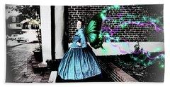 Spooky Historic Butterfly Dahlonega  Hand Towel