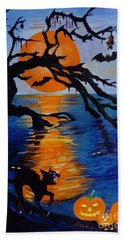 Spooky Hollow - Painting Hand Towel