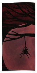 Spooky Spider Tree Hand Towel