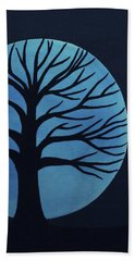 Spooky Tree Blue Hand Towel