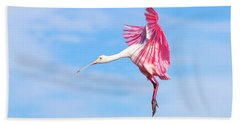 Spoonbill Ballet Hand Towel by Mark Andrew Thomas