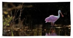 Spoonbill Fishing For Supper Hand Towel
