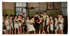 Bath Towel featuring the photograph Sport - Boxing - Fists Of Fury 1924 by Mike Savad