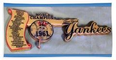 Sports Baseball 1961 Ny World Champions Clock Hand Towel