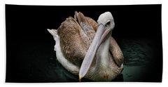 Spotlight On A Pink-backed Pelican Bath Towel