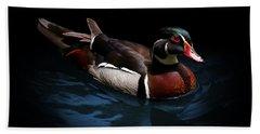 Spotlight On A Wood Duck Bath Towel