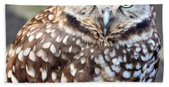 Spots - Burrowing Owl Hand Towel