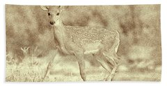 Spotted Fawn Hand Towel by Jim Lepard