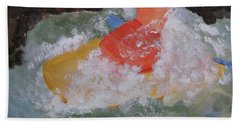 Bath Towel featuring the painting Spray by Sandy McIntire