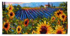 Hand Towel featuring the painting Spread A Little Sunshine by Chris Brandley