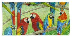 Spreading The News Hand Towel by Pat Scott