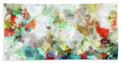 Hand Towel featuring the painting Spring Abstract Art / Vivid Colors by Ayse Deniz