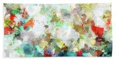 Spring Abstract Art / Vivid Colors Bath Towel by Ayse Deniz