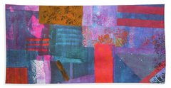 Bath Towel featuring the mixed media Spring Abstract by Riana Van Staden
