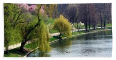 Spring At The Lake Hand Towel by Judi Saunders