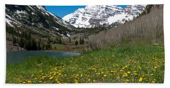 Spring At The Maroon Bells Hand Towel