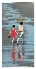 Spring Beach Walk  Hand Towel by Christy Ricafrente