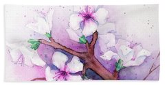 Spring Blooms Bath Towel by Rebecca Davis