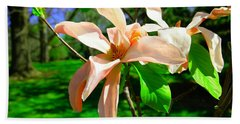 Hand Towel featuring the photograph Spring Blossom Open Wide by Jeff Swan