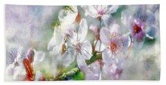 Spring Blossoms Bath Towel by Jean OKeeffe Macro Abundance Art