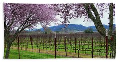 Spring Blossoms Near Calistoga Bath Towel