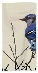 Spring Bluejay Bath Towel