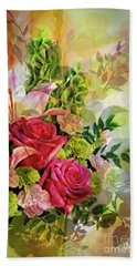 Spring Bouquet Hand Towel by Maria Urso