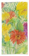 Bath Towel featuring the painting Spring Bouquet  by Vicki  Housel