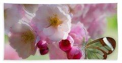 Spring Cherry Blossom Bath Towel