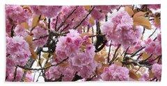 Spring Cherry Blossoms Bath Towel