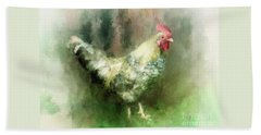 Hand Towel featuring the digital art Spring Chicken by Lois Bryan