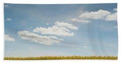 Spring Day Clouds Bath Towel