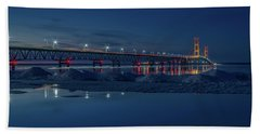 Spring Evening At The Mackinac Bridge Hand Towel