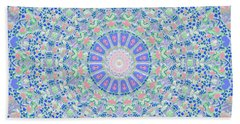Bath Towel featuring the digital art Spring Flood Kaleidoscope by Joy McKenzie